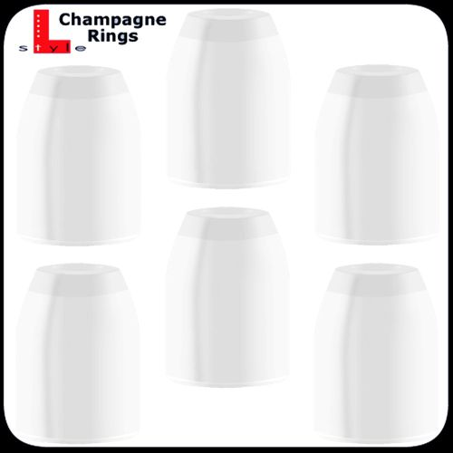 L Style Champagne Rings wit